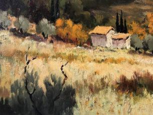 Eugene Sandrini Impressionist Painting Detail