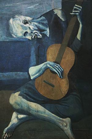 Pablo Picasso Art Old Guitarist
