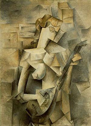 Pablo Picasso Art Girl with a mandolin
