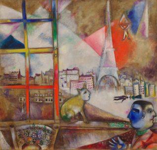 Marc Chagall Paris Through the Window 1913