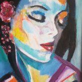 k leeson impressionist painting Gaia signature