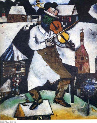 Marc Chagall Art the fiddler 1913