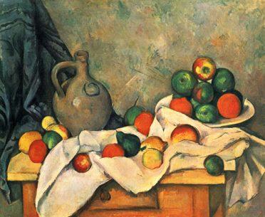 Paul Cezanne Art 1894 Curtain jug and fruit