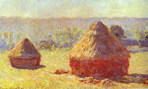 Claude Monet Art Haystacks