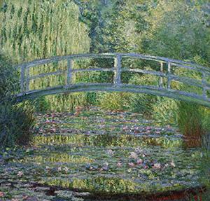 Claude Monet Art Water Lilies and Japanese Bridge