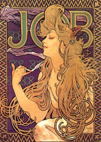 Alphonse Mucha Art Job Cigarettes