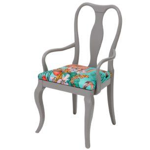 Grey Carver Chair