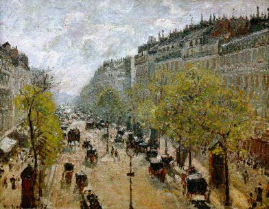 boulevard montmartre au printemps camille pissarro 1897