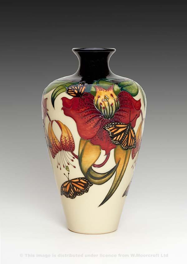 ceramic vase anna lily monarch by nicola slaney boha glass