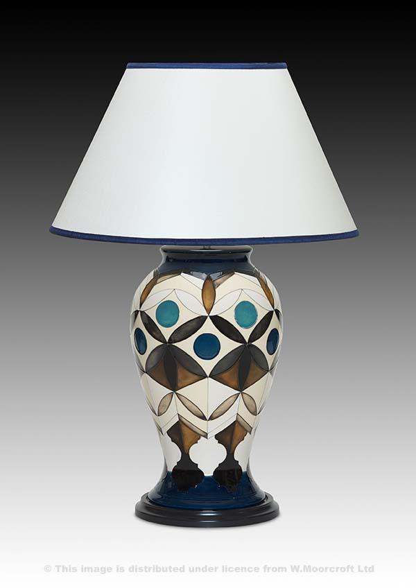 Ivory Ceramic Lamp 'Muzharia Ivory Lamp' by Emma Bossons FRSA