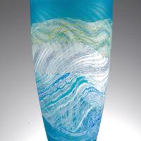Blue And White Glass Vase