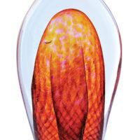 Decorative Glass Paperweights Orange