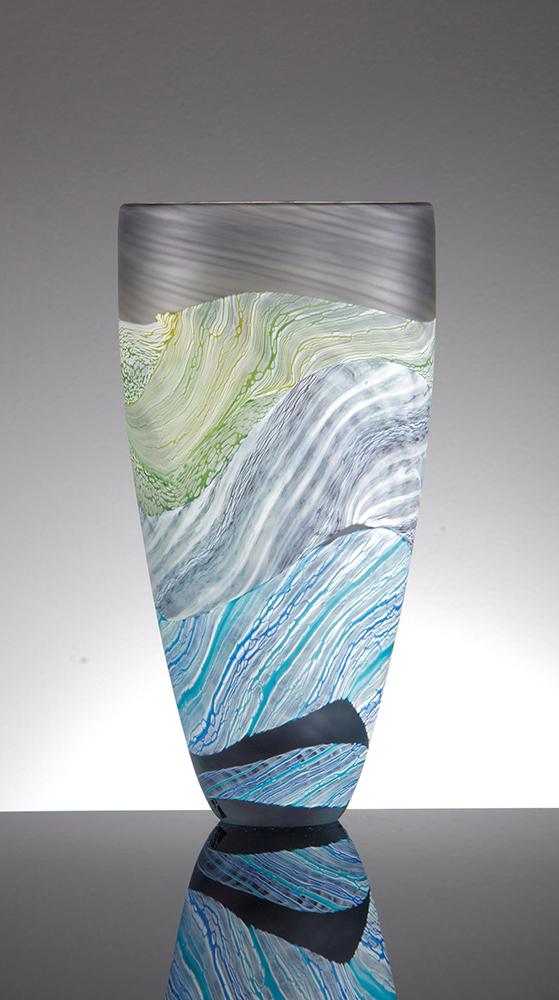 Tall Flower Vases Sea Shore Grey Skies By Thomas Petit