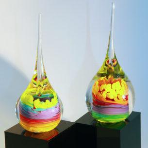 Modern Glass Ornaments