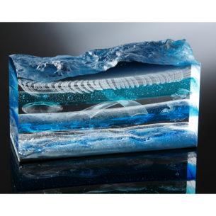 Wave Glass Sculpture