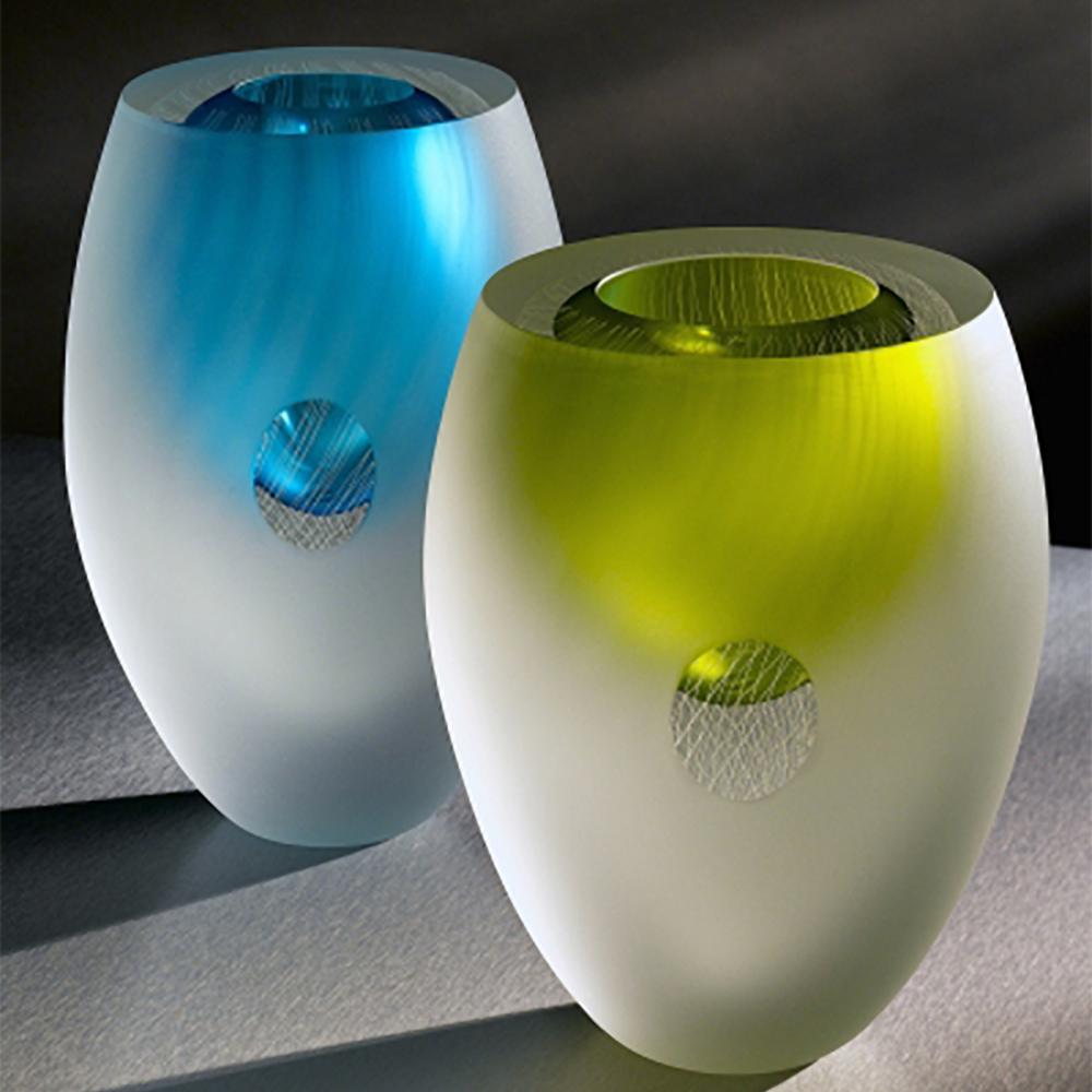 Blown Glass Vases 'Pinnate Vase' by Charlie Macpherson