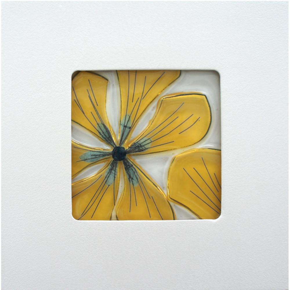 Handmade Glass Wall Art | \'Salisbury Flower\' by Wendy Newhofer