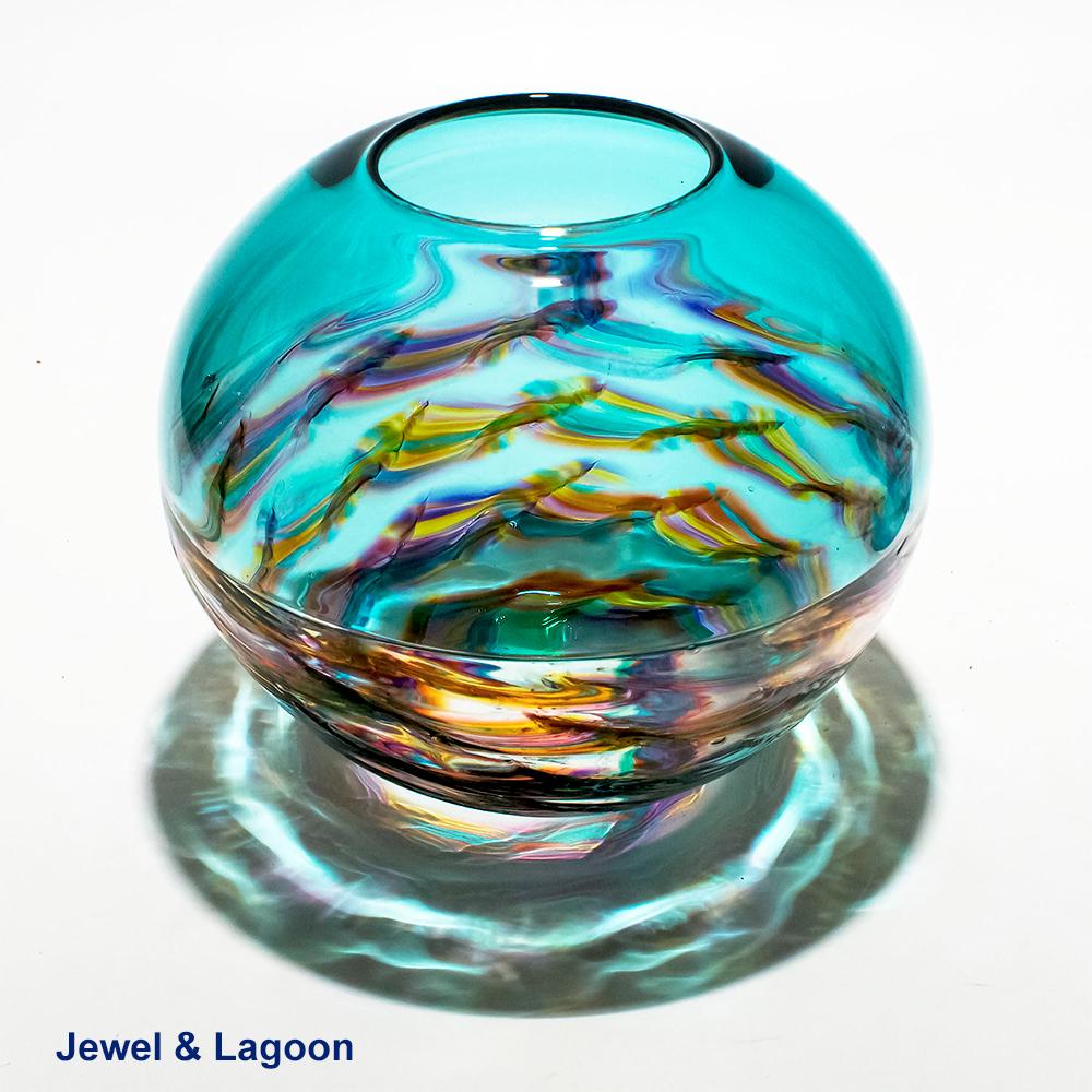 Decorative Glass Bowls For Centerpieces I Helix By Michael Trimpol