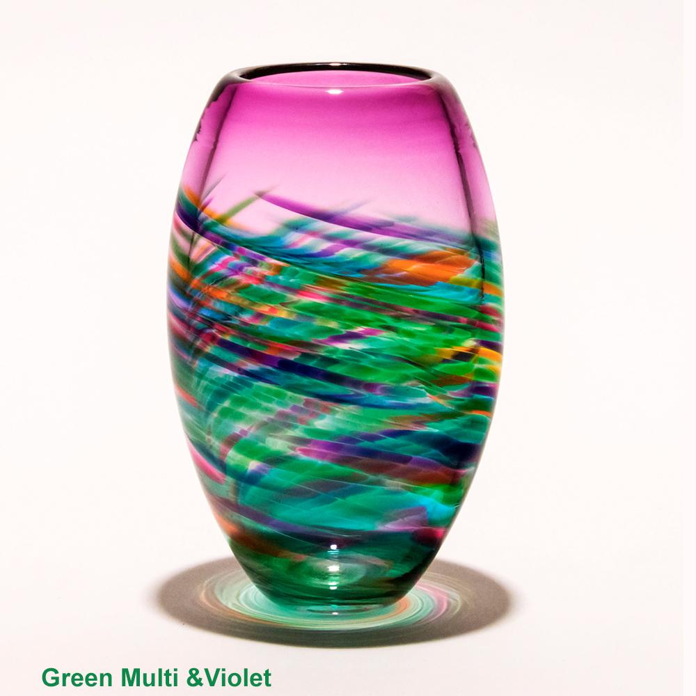 Modern Vases Vortex Of Lights By Michael Trimpol Boha Glass