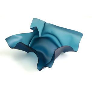 Teal Glass Sculpture