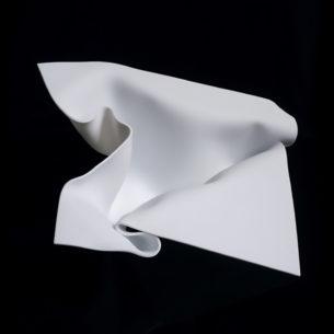 White Glass Sculpture