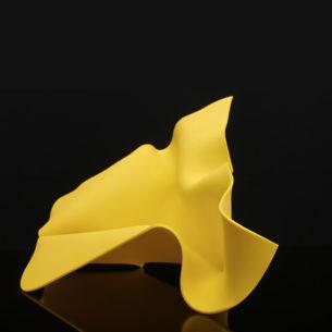 Yellow Glass Sculpture