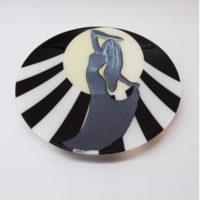 Art Platter 'Moonstruck' by Laura Hart