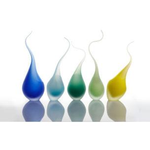 Sky Blue Handmade Glass Ornament 'Corallinus' by Elena Fleury-Rojo