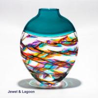 Decorative Glass Vases 'Optic Rib Helix Flat' by Michael Trimpol