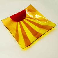 Handmade Platter 'Sunset Boulevard' by Laura Hart