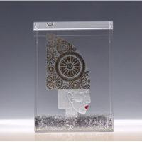 Optical Crystal Glass 'Hat' by Nancy Sutcliffe