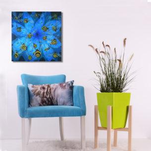 Peter Rudolfo - Bees & Blue Flower