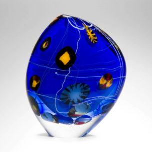 Small Glass Ornament 'Small Kite Sailform' by Peter Layton