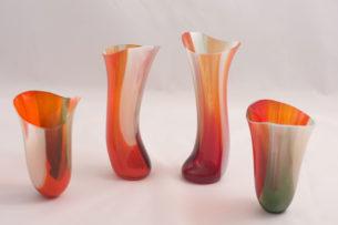 Orange Vessel 'Autumn Inspired IV' by Hazel MacLennan
