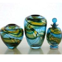 Decorative Art Glass 'Flume Range' by David Wallace