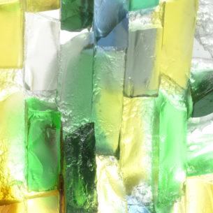 Coloured Glass Sculptures