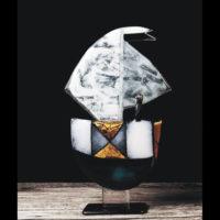 Glass Boat Sculpture