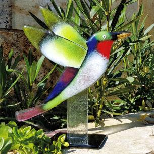 Hummingbird Glass Art