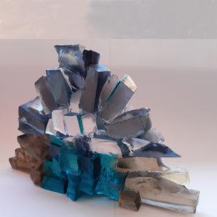 Modern Glass Artwork