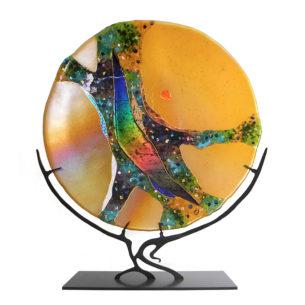 Amber Glass Sculpture