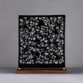 Black Opaque Glass Sculpture