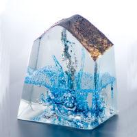 Blue Glass Art Ornament