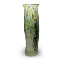 Green Glass Art Vase
