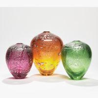 Green Glass Art Vessel