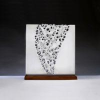 Opaque White Glass Sculpture
