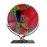 Red Round GlassSculpture
