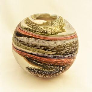 Round Glass Art Vase