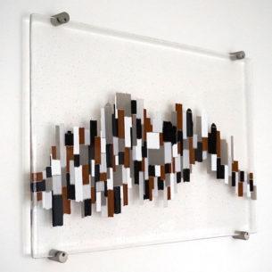 Abstract Glass Wall Art