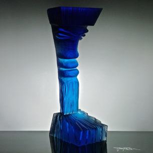 Aqua Glass Sculpture