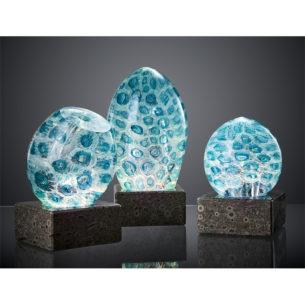 Blue Art Glass Sculpture